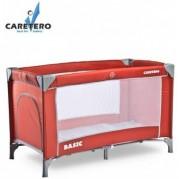 Cestovná postieľka Caretero BASIC 2016, red
