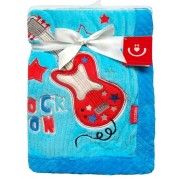 Detská deka Bobas Guitar, modrá