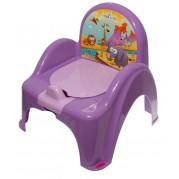 Detský nočník s poklopom Safari, fialový
