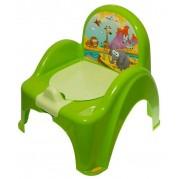 Detský nočník s poklopom Safari, zelený