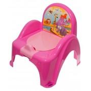 Detský nočník s poklopom Safari, ružový