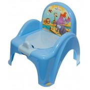 Detský nočník s poklopom Safari, modrý