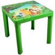 Detský plastový stôl, zelený