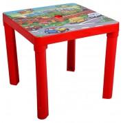 Detský plastový stôl, červený