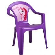 Detská plastová stolička, Luna fialová