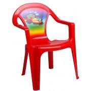 Detská plastová stolička, červená
