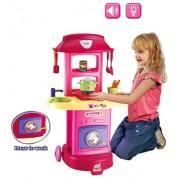 Veľká detská kuchynka s práčkou Bayo + príslušenstvo 11ks