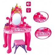Detský toaletný stolík s piánom a stoličkou Bayo + príslušenstvo 13ks