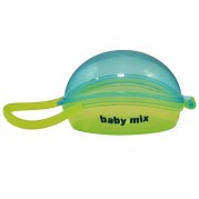 Puzdro na cumlík Baby Mix, tyrkysovo-žlté