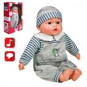 Hovoriaca a spievajúca bábika PlayTo v sivom oblečení