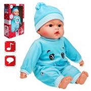 Hovoriaca a spievajúca bábika PlayTo v modrom oblečení