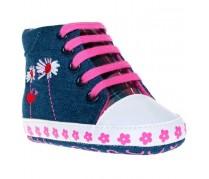Detské džínsové capáčky Bobo Baby, modro-ružové