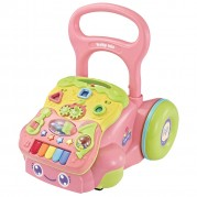 Edukačné, hrajúce chodítko Baby Mix, ružové