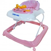 Detské chodítko s volantom Baby Mix, pink