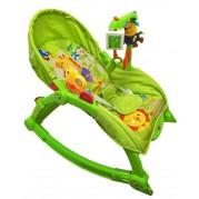 Detské kresielko 2v1 Baby Mix, Zelená žirafa