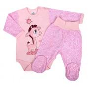 Dojčenská súprava New Baby Giraffe, ružová
