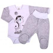 Dojčenská súprava New Baby Giraffe, sivá