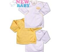 3ks Dojčenská košieľka New Baby Classic, žltá