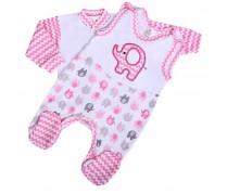 2-dielna súpravička New Baby Sloník, bielo-ružová