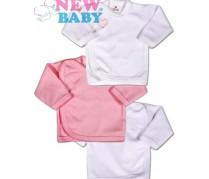3ks Dojčenská košieľka New Baby Classic, ružová