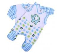2-dielna súpravička New Baby Sloník, bielo-modrá