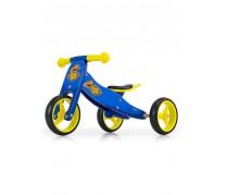 Detské multifunkčné odrážadlo/bicykel Milly Mally JAKE, blue Cowboy
