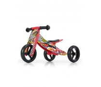 Detské multifunkčné odrážadlo/bicykel Milly Mally JAKE, red