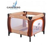 Detská skladacia ohrádka CARETERO Quadra, hnedá
