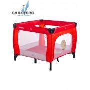 Detská skladacia ohrádka CARETERO Quadra, červená