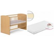 Detská postieľka KAROLINA II borovica + matrac 120*60cm