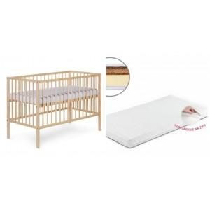 Detská postieľka RADEK X borovica + matrac 120*60cm