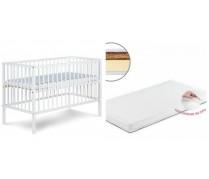 Detská postieľka RADEK X biela + matrac 120*60cm